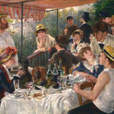 Pierre-Auguste Renoir na casa Fournaise, em Chatou