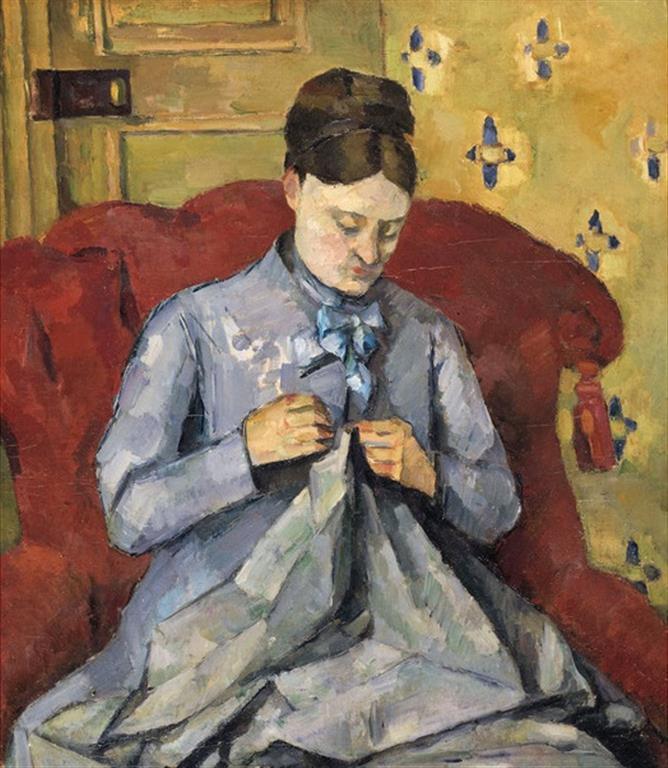 M Cezanne cousant (Medium)