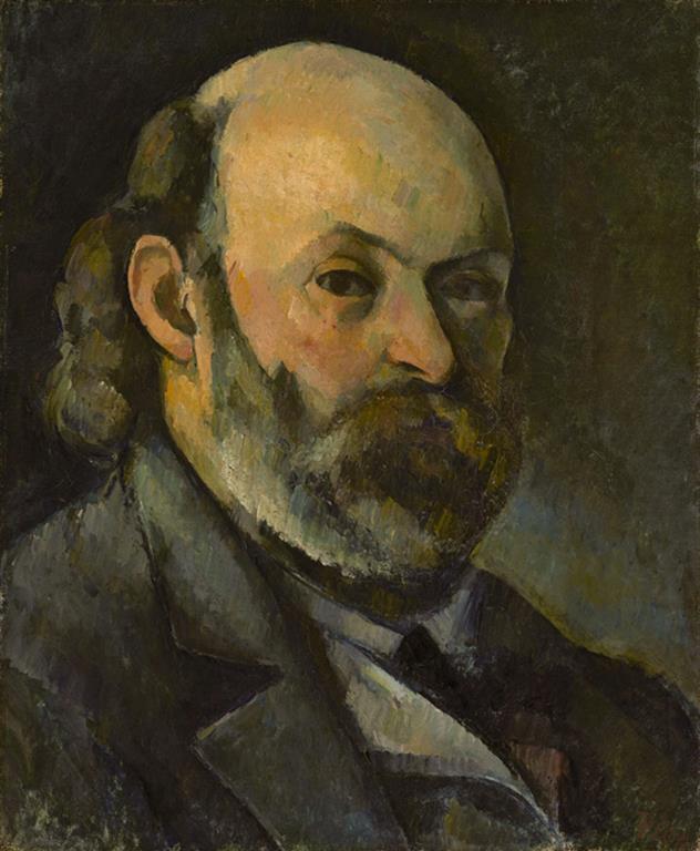Paul Cézanne 011 Autoportrait - Автопортрет 1880/ 85 (annoté par le fils de Cézanne: Aix 1886) - 45x37 - Provenance, Ambroise Vollard, 4 mai 1906 - cat. 1913, 207 - cat. Pouchkine J3338